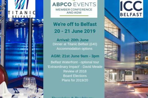 ABPCO are off to Belfast for the Member Conference image