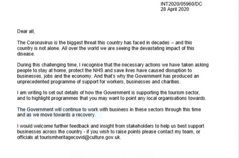 Letter from Nigel Huddleston MP at DCMS image
