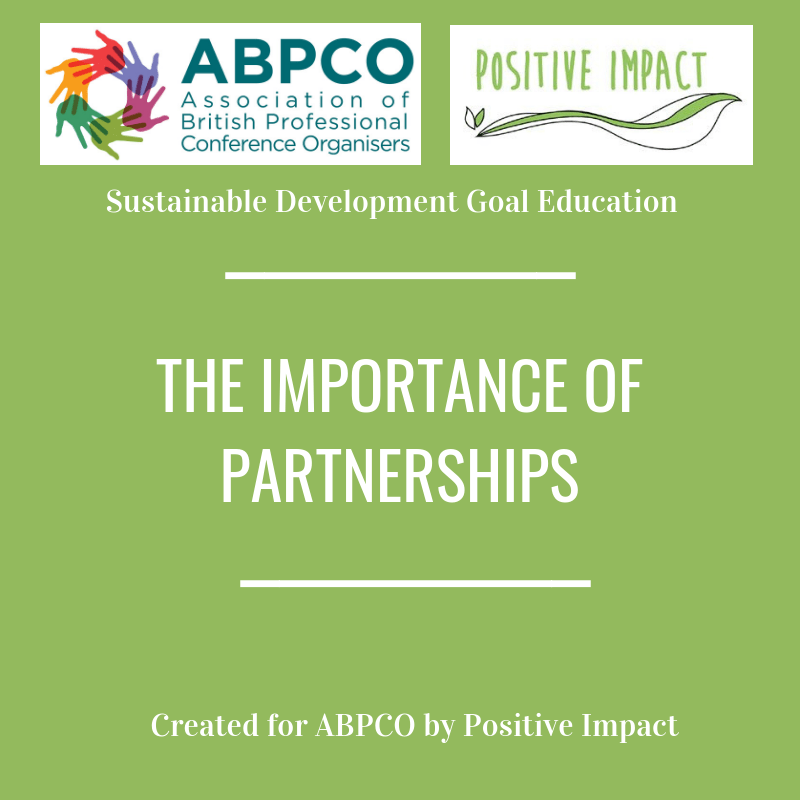 The Importance of Partnerships: Positive Impact header internal