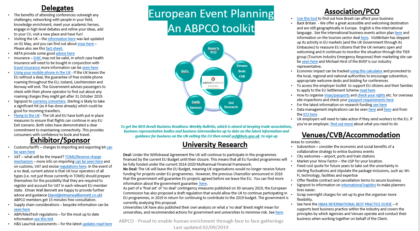 European Event Planning - an ABPCO toolkit header internal