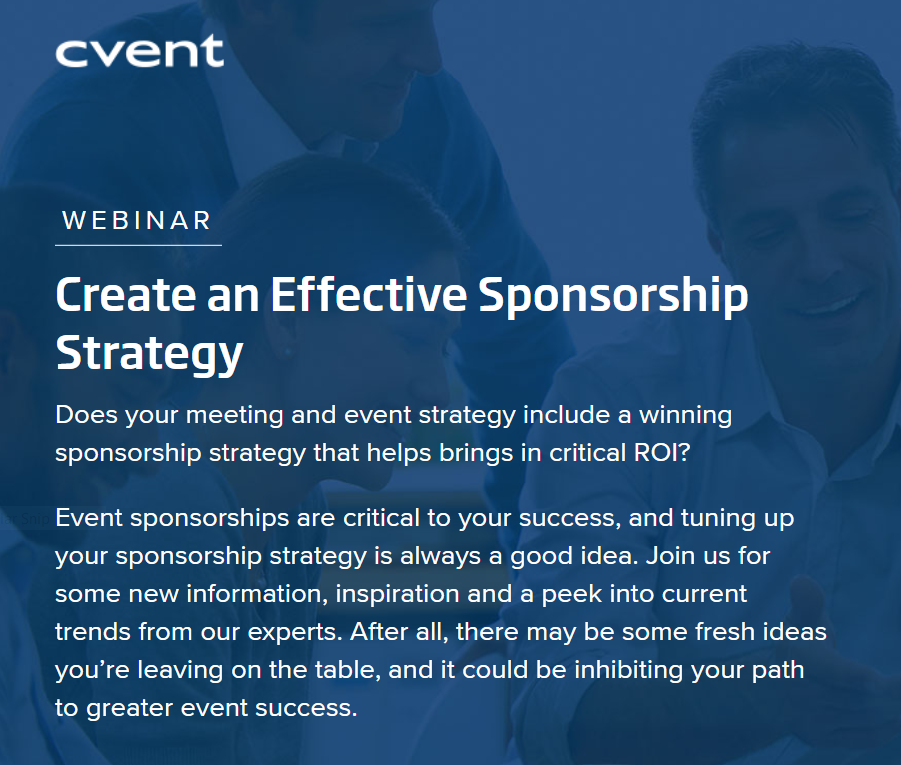 Sponsorship Strategies: The Hidden Goldmine  header internal
