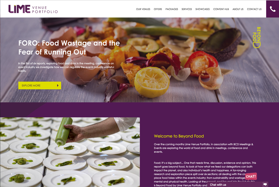 LVP Food Waste header internal