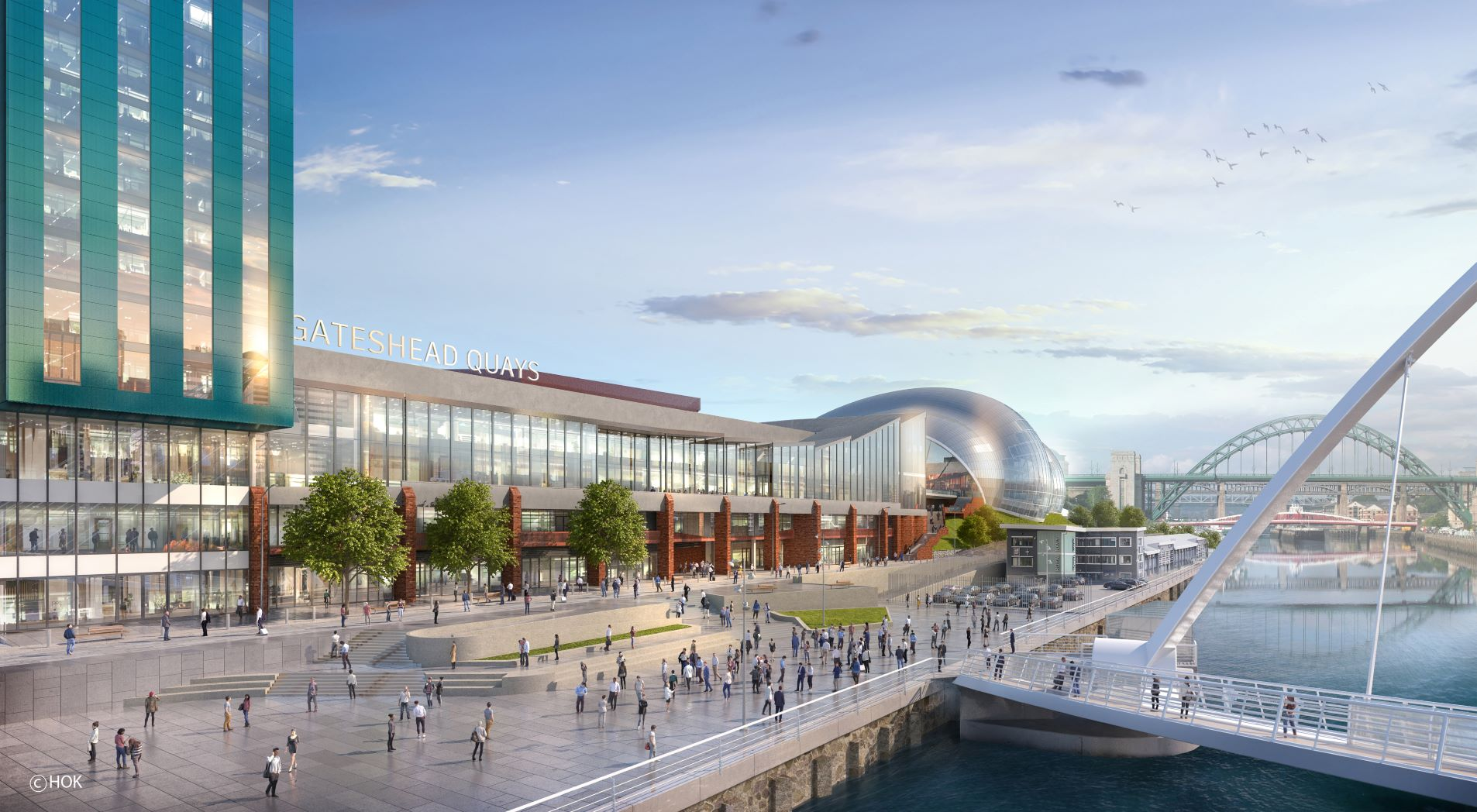 Planning submitted for Gateshead Quays arena-led s header internal